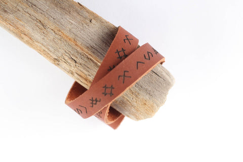 baltic signs leather bracelet