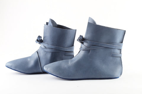Blue leather boots - WildGood