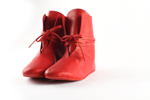 Red leather boots - WildGood