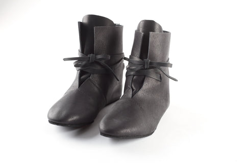 Black leather boots - WildGood