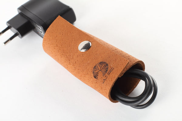 Brown leather cord wrap - WildGood