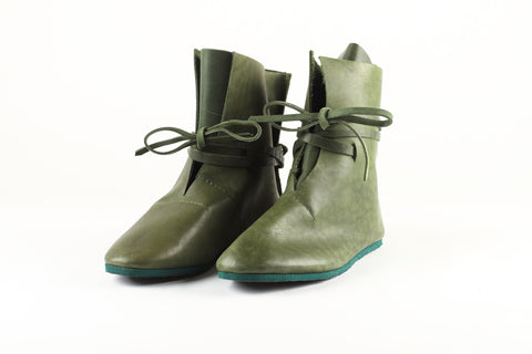 Green leather boots - WildGood