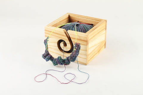 Handcrafted wood yarn box - WildGood