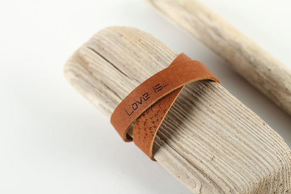 wild good leather bracelet Love is