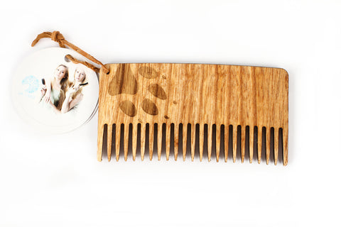 Eco wooden comb - Wolf claw