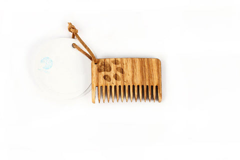 Natural wooden moustache comb - WildGood