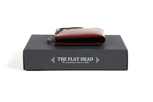 The Flat Head cordovan half zip short wallets