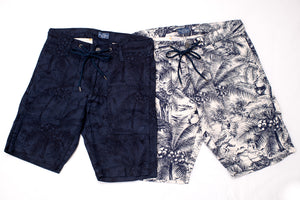 THE FLAT HEAD 'PALM BEACH' JACQUARD SHORTS