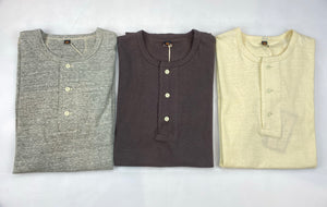Freewheelers 6.5oz Loopwheeled Sport Henley Tee