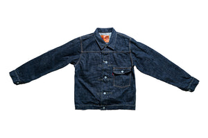 FULL COUNT 13.6OZ 'ROUGH' TYPE 1 DENIM JACKET