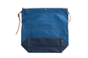 SUNSET CRAFTSMAN CO X STEVENSON OVERALL CO HEAVY CANVAS SHOULDER 'DAY' BAG (BLUE X NAVY)