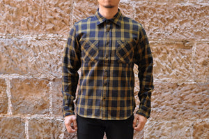 IRON HEART 14OZ ULTRA HEAVY FLANNEL WORK SHIRT (KILLA BEE)