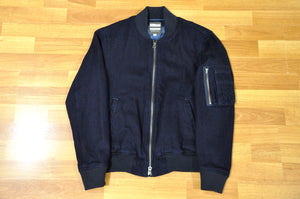 Momotaro Dobby MA-1  Flight Jacket (Indigo)