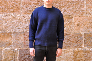 SAMURAI 'INDIGO FISHERMAN' WOOL/COTTON SWEATER