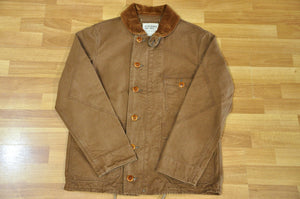 "Freewheelers ""Burnham"" 13oz Duck Engineer Coat (Brown)"