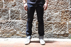 The Flat Head X R.J.B D109FXR Slim Tapered fit (Navy)