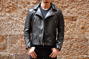 Lewis Leathers Black Sheepskin Lightning 402T (Tight fit)