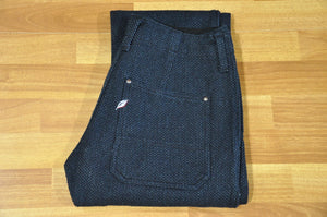 Pure Blue Japan Indigo Sashiko Trousers (Natural Tapered fit)