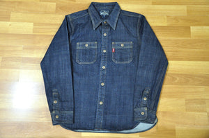 Studio D'Artisan 11oz 'Suvin Gold' Denim Workshirt