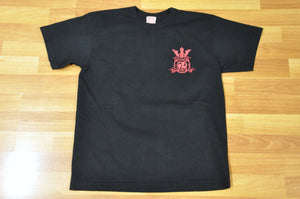 Samurai 'Lion Crest' 6.7oz Loopwheel Black Tee (20th Anniversary)