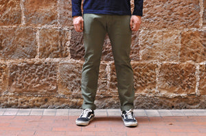 Pure Blue Japan 11oz Slim Tapered Chinos (Olive)