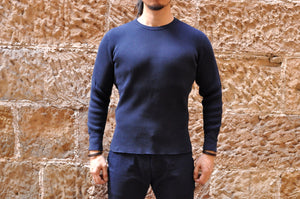 STUDIO D'ARTISAN 11OZ ULTRA HEAVY THERMAL SHIRT(NAVY)