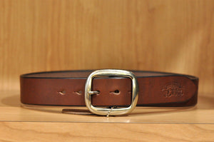 STUDIO D'ARTISAN BEND COWHIDE BELT (BROWN)