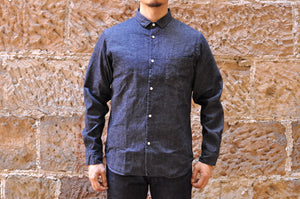 JAPAN BLUE 8OZ 'D'IVOIRE' INDIGO DENIM SHIRT