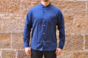 JAPAN BLUE 6OZ 'D'IVOIRE' DOUBLE INDIGO CHAMBRAY SHIRT