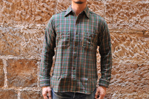 WAREHOUSE 11OZ SELVAGE FLANNEL WORKSHIRT