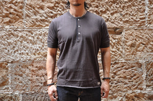 Freewheelers 'Power Wear' Loopwheeled S/L Henley Tee