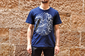Blue Blue Japan 'Wave' Tee (Indigo)