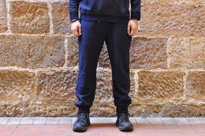 PURE BLUE JAPAN INDIGO 'WOOLY' SWEATPANTS (RELAX TAPERED FIT)