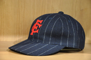 Full Count Striped Wool Baseball Cap (Navy)