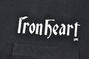 Iron Heart 7.5oz Logo Loopwheeled Pocket Tee