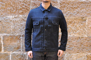 Pure Blue Japan 13oz Selvage Sashiko Type 2 Jacket (Black)
