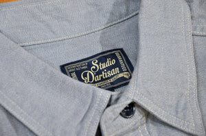 Studio D'Artisan 6oz Selvage Chambray Work-shirt Ash Indigo (Special Edition)