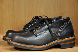 The Flat Head Black Tea-cored Horsebutt Oxford Shoes (Special Edition)