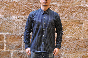 THE FLAT HEAD 10OZ INDIGO WABASH WORKSHIRT