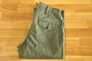Orgueil 13oz 'German' Cotton Trousers (Natural Tapered fit)