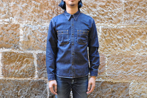 The Flat Head 8.5oz Denim Jacketed Workshirt