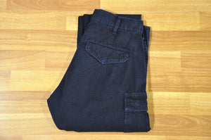 Pure Blue Japan Indigo 'Ripstop' Cargo Pants (Hi Tapered fit)