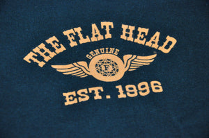 The Flat Head signature 'Flying Wheel' Logo Tees