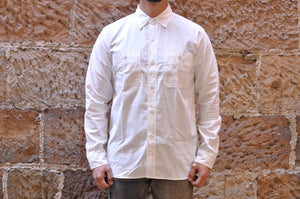 WAREHOUSE 8OZ SELVAGE CHAMBRAY 'TRIPLE STITCHED' WORK SHIRT (WHITE)