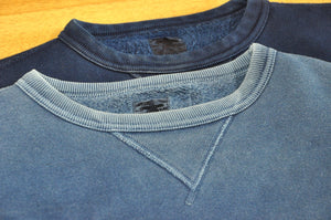 The Strike Gold Indigo 12oz Loopwheeled Sweatshirt 4 YEARS V.S. 4 DAYS in use