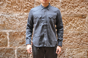 Iron Heart 8.5oz 'Sawtooth' Gray Denim Western Shirt