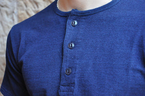 Full Count Medium Weight Henley Tee (Indigo)