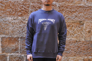 WAREHOUSE 10OZ 'MIDWAY' LOOPWHEELED SWEATSHIRT (NAVY)