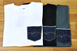 Studio D'Artisan Denim Pocket Tee