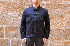 Pure Blue Japan 18oz Type 2 Denim Jacket (Indigo X Black)